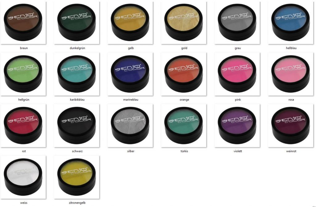 Bodypainting color cans selection shades