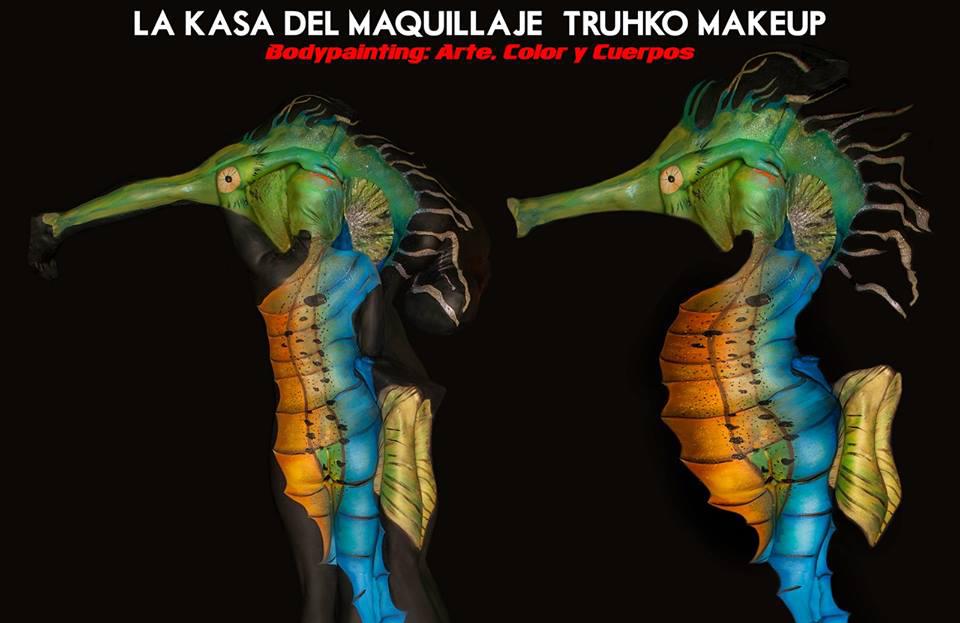 Seahorse Bodypainting 3d Senjo Color